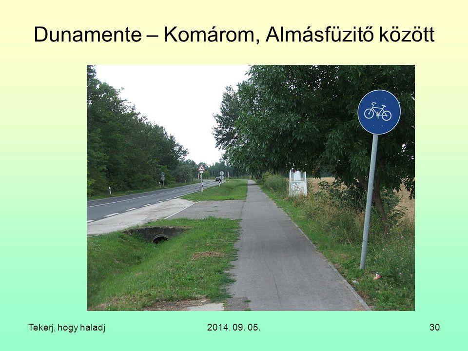 Dunamente – Komárom, Almásfüzitő között