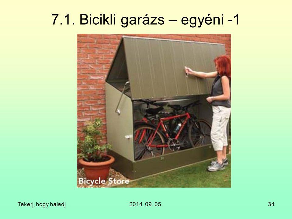 7.1. Bicikli garázs – egyéni -1