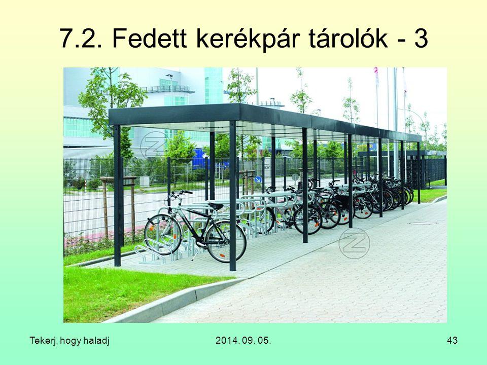 7.2. Fedett kerékpár tárolók - 3