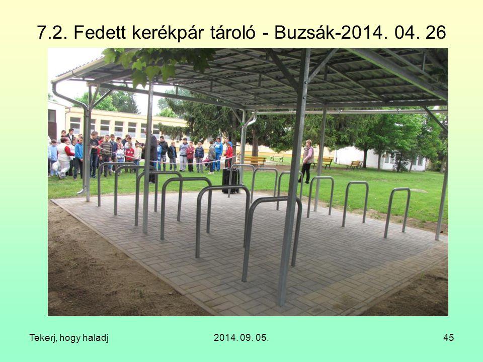 7.2. Fedett kerékpár tároló - Buzsák-2014. 04. 26