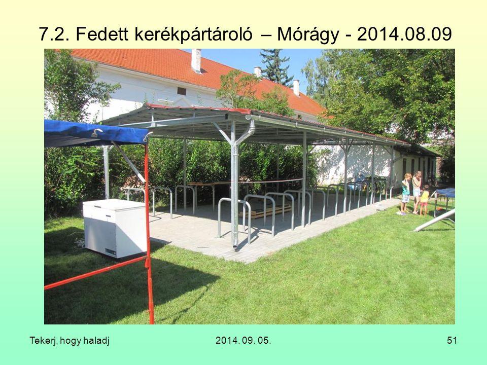 7.2. Fedett kerékpártároló – Mórágy - 2014.08.09