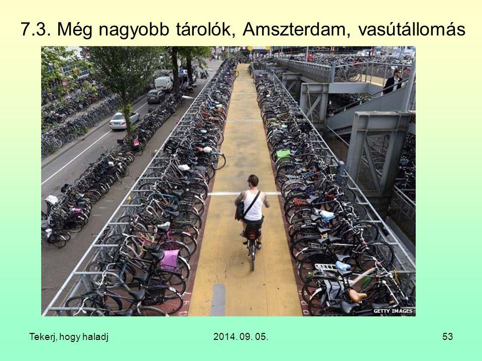 7.3. Még nagyobb tárolók, Amszterdam, vasútállomás