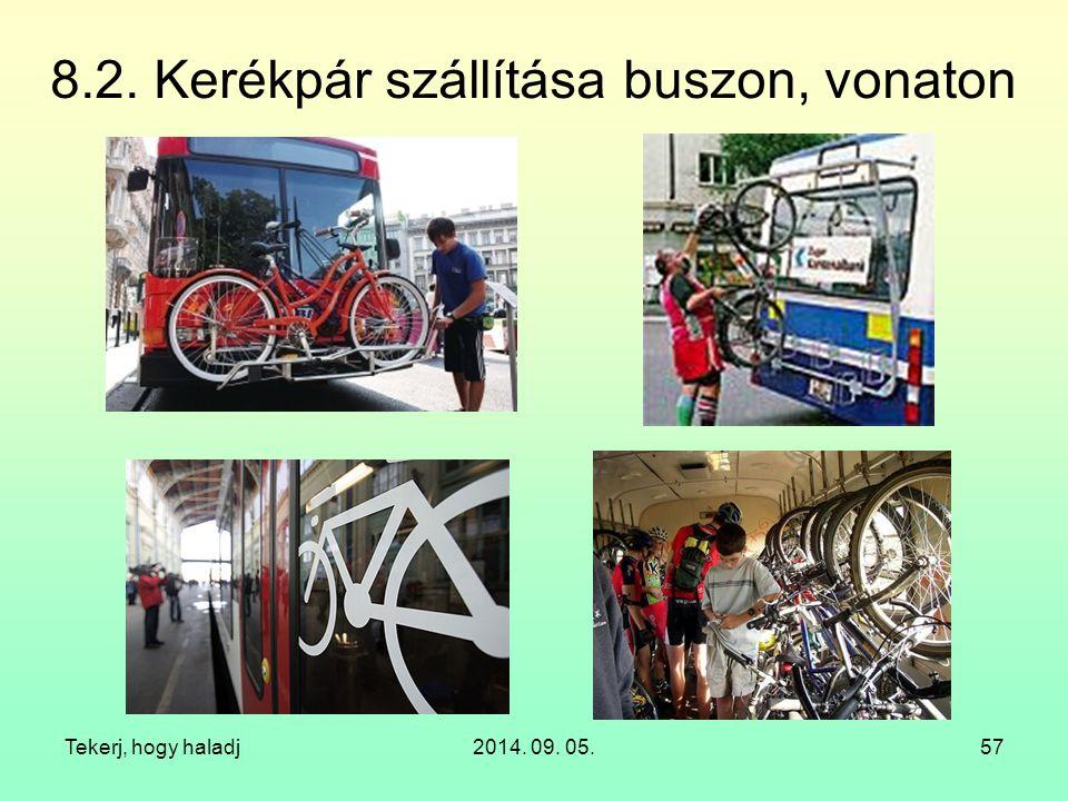 8.2. Kerékpár szállítása buszon, vonaton