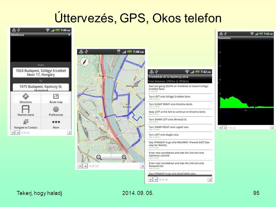 Úttervezés, GPS, Okos telefon