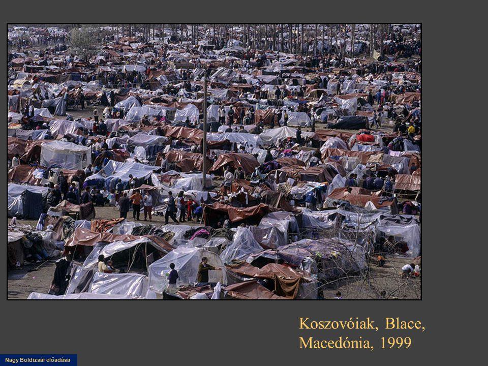 Koszovóiak, Blace, Macedónia, 1999