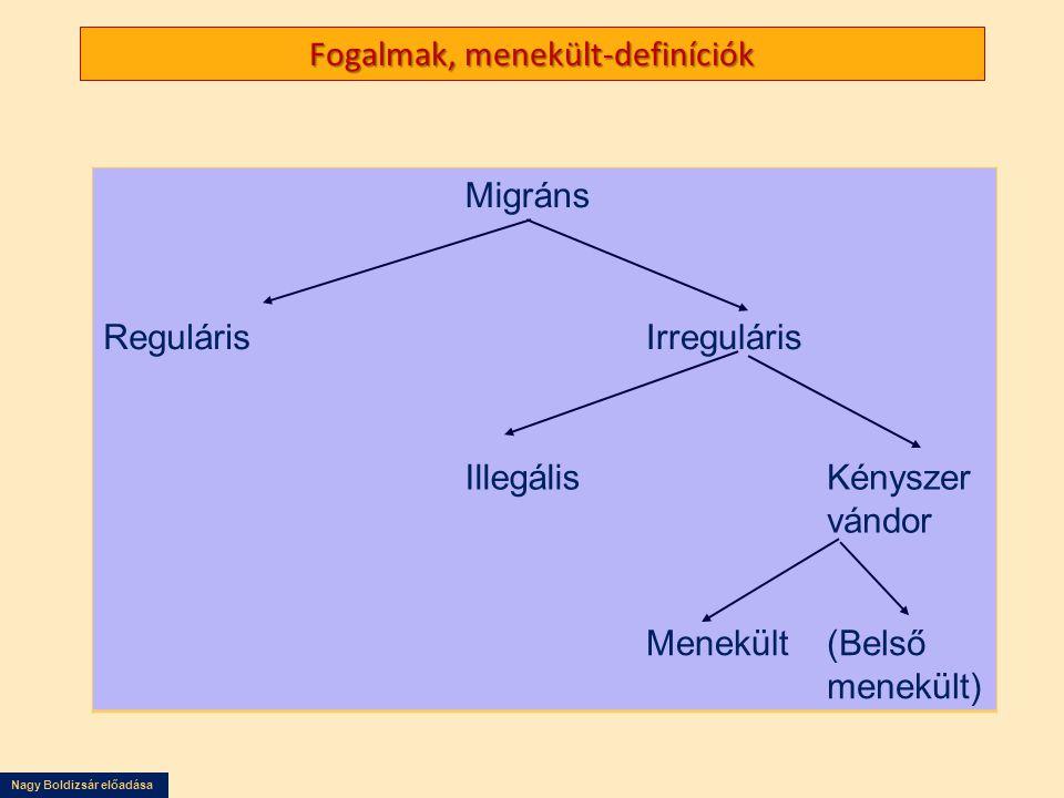 Fogalmak, menekült-definíciók