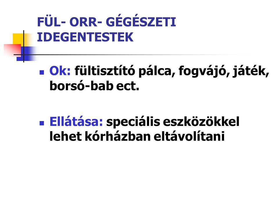 FÜL- ORR- GÉGÉSZETI IDEGENTESTEK