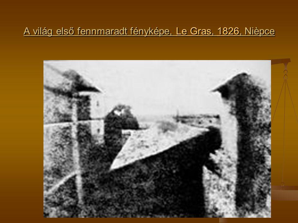 A világ első fennmaradt fényképe, Le Gras, 1826, Nièpce