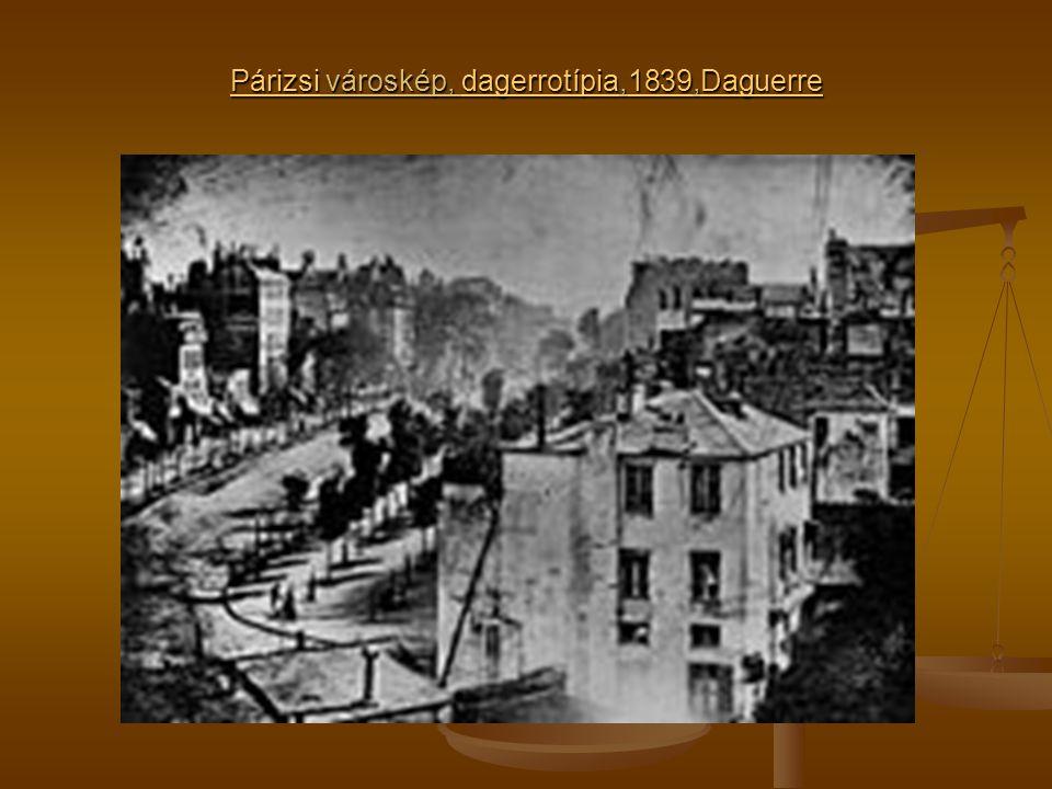 Párizsi városkép, dagerrotípia,1839,Daguerre