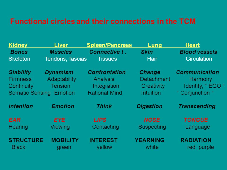 Functional circles and their connections in the TCM