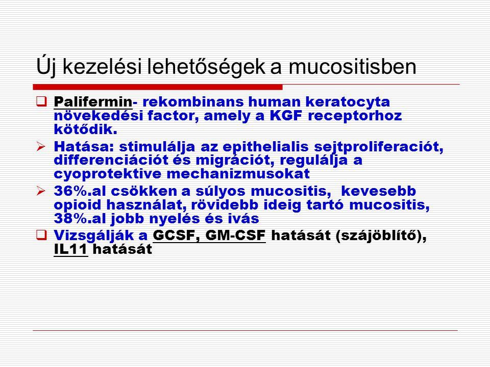Új kezelési lehetőségek a mucositisben