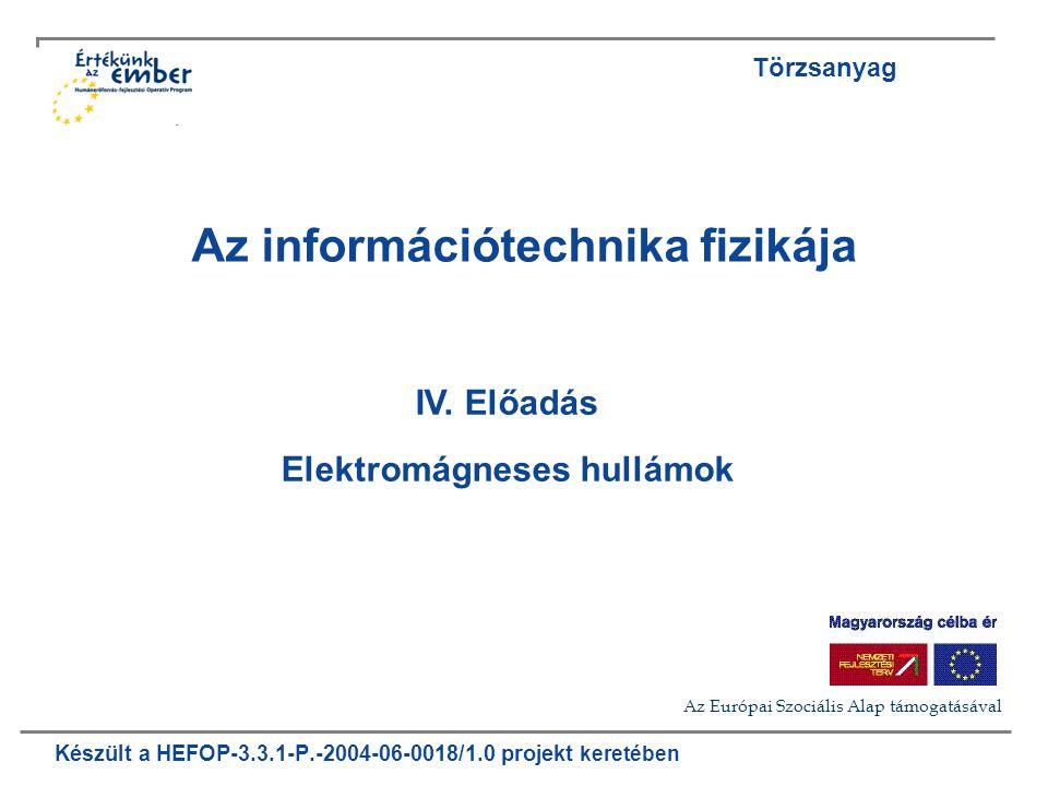 Készült a HEFOP-3.3.1-P.-2004-06-0018/1.0 projekt keretében