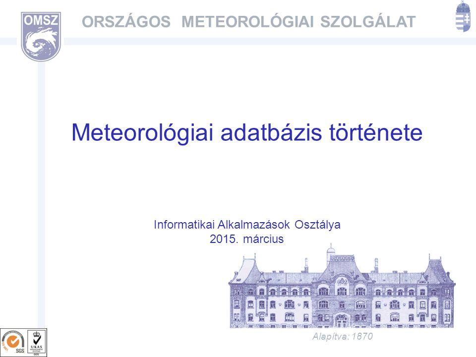 Meteorológiai adatbázis története