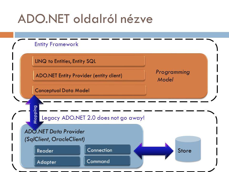 ADO.NET oldalról nézve Entity Framework Programming Model
