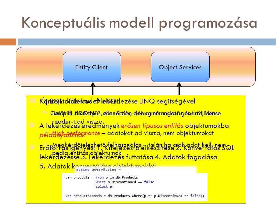 Konceptuális modell programozása