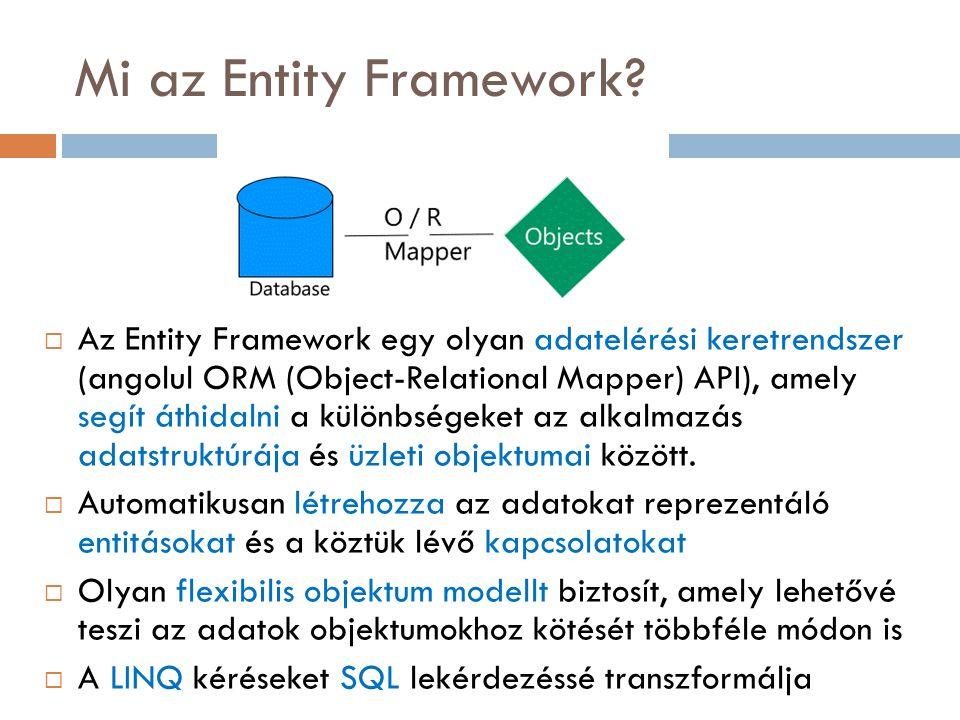 Mi az Entity Framework