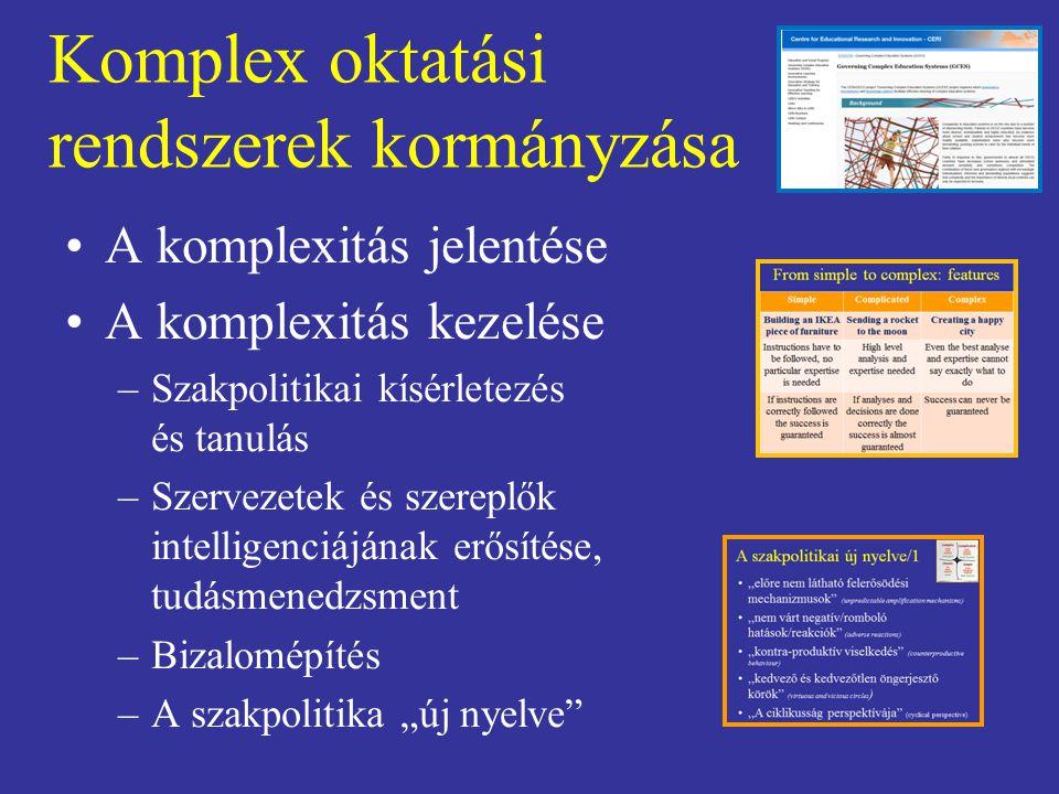 Komplex oktatási rendszerek kormányzása