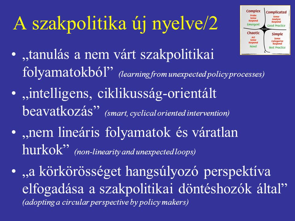 A szakpolitika új nyelve/2