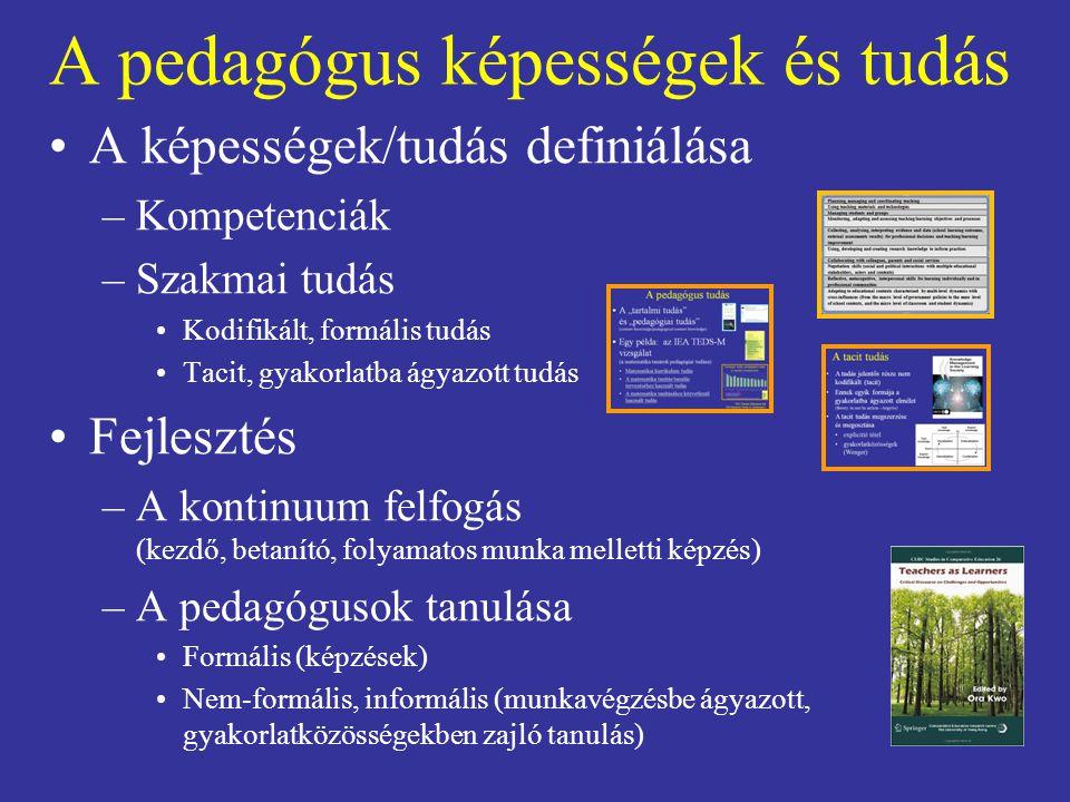 A pedagógus képességek és tudás