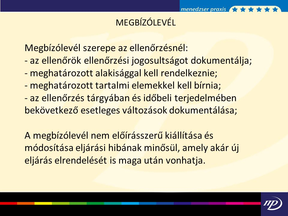 MEGBÍZÓLEVÉL