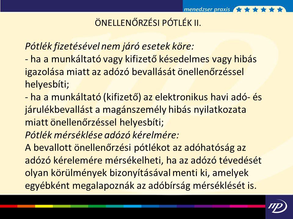 ÖNELLENŐRZÉSI PÓTLÉK II.