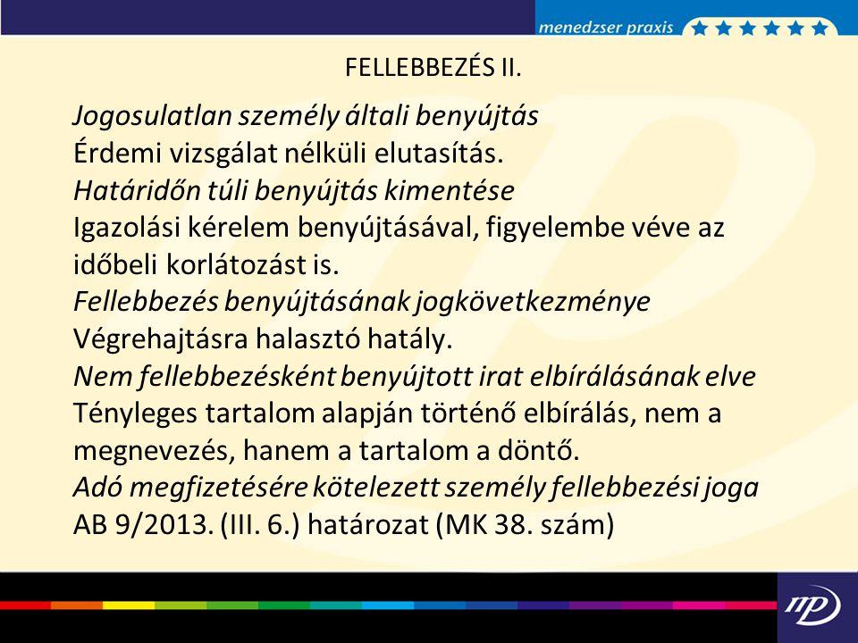 FELLEBBEZÉS II.