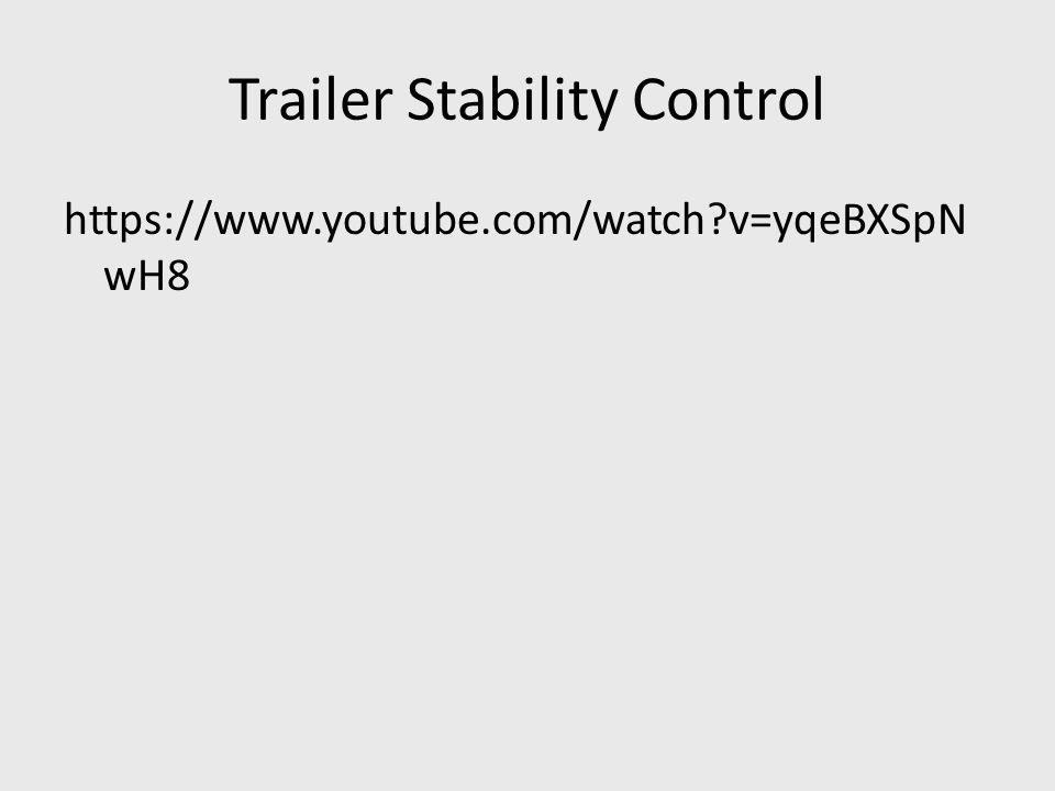 Trailer Stability Control