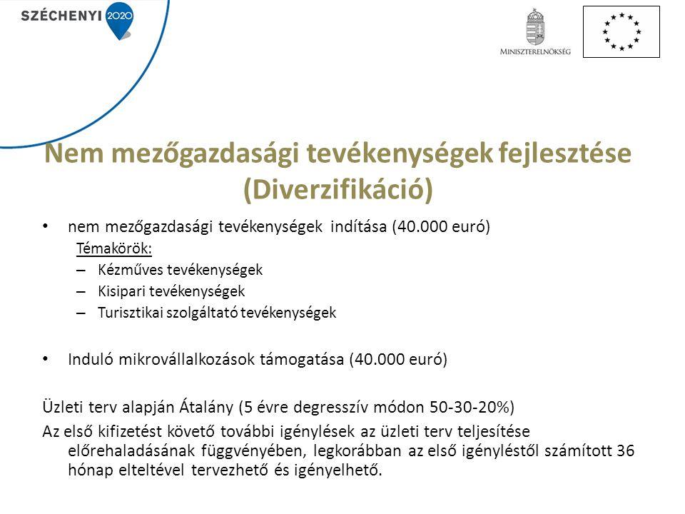 Nem mezőgazdasági tevékenységek fejlesztése (Diverzifikáció)