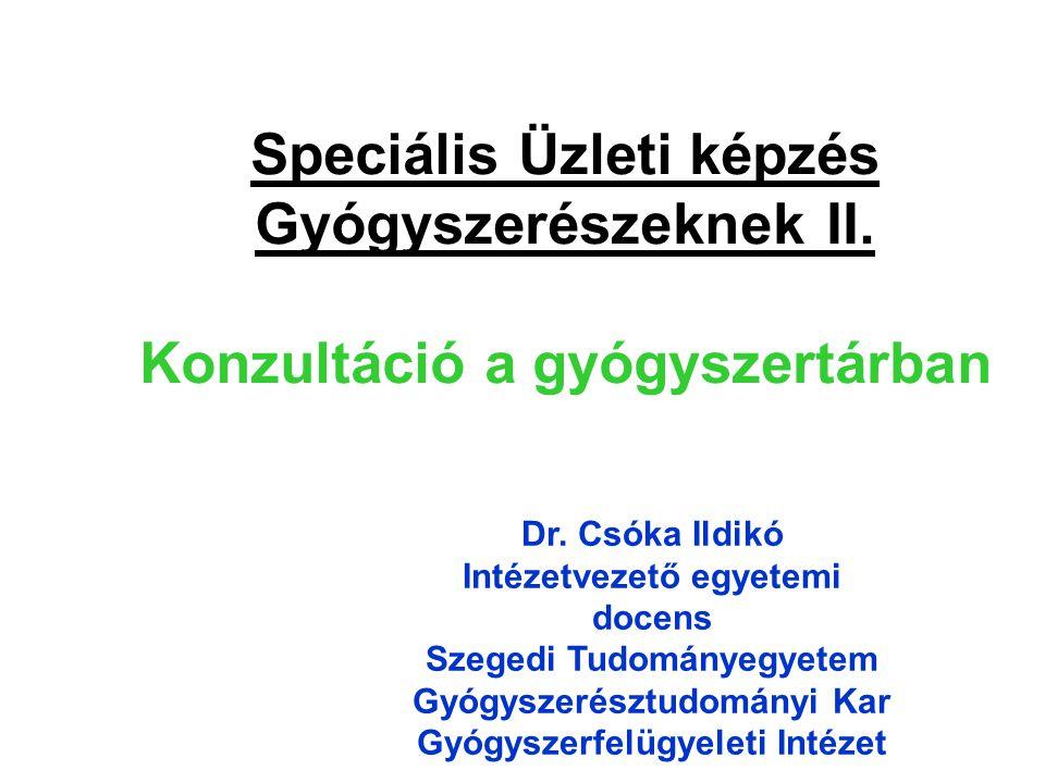 Speciális Üzleti képzés Gyógyszerészeknek II