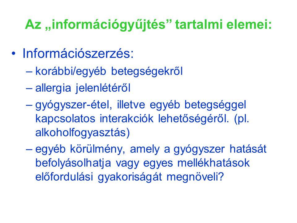 """Az """"információgyűjtés tartalmi elemei:"""