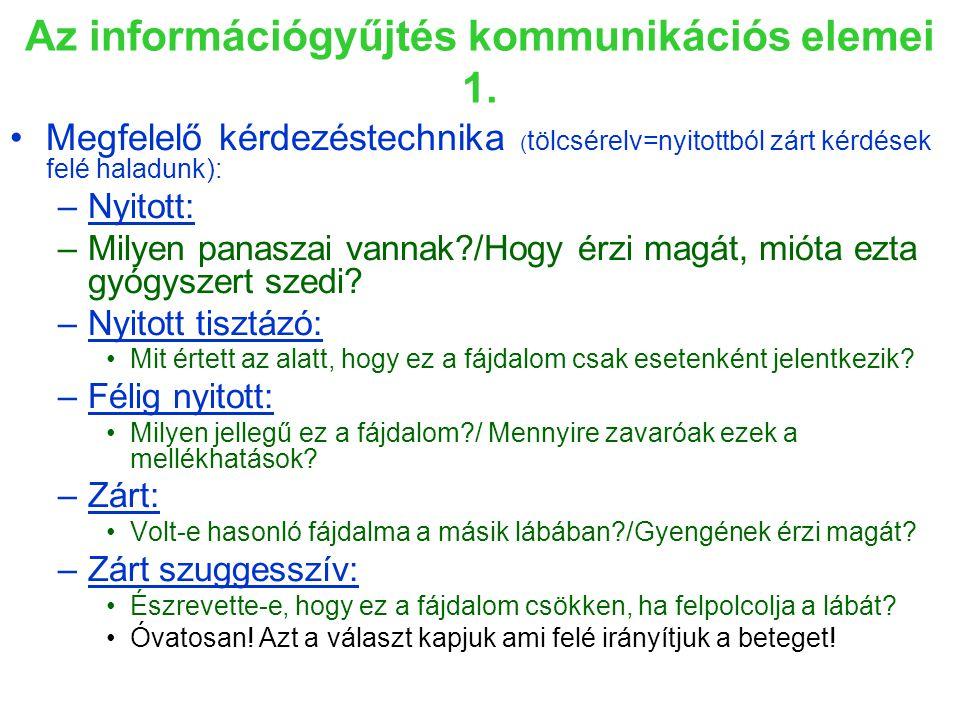 Az információgyűjtés kommunikációs elemei 1.
