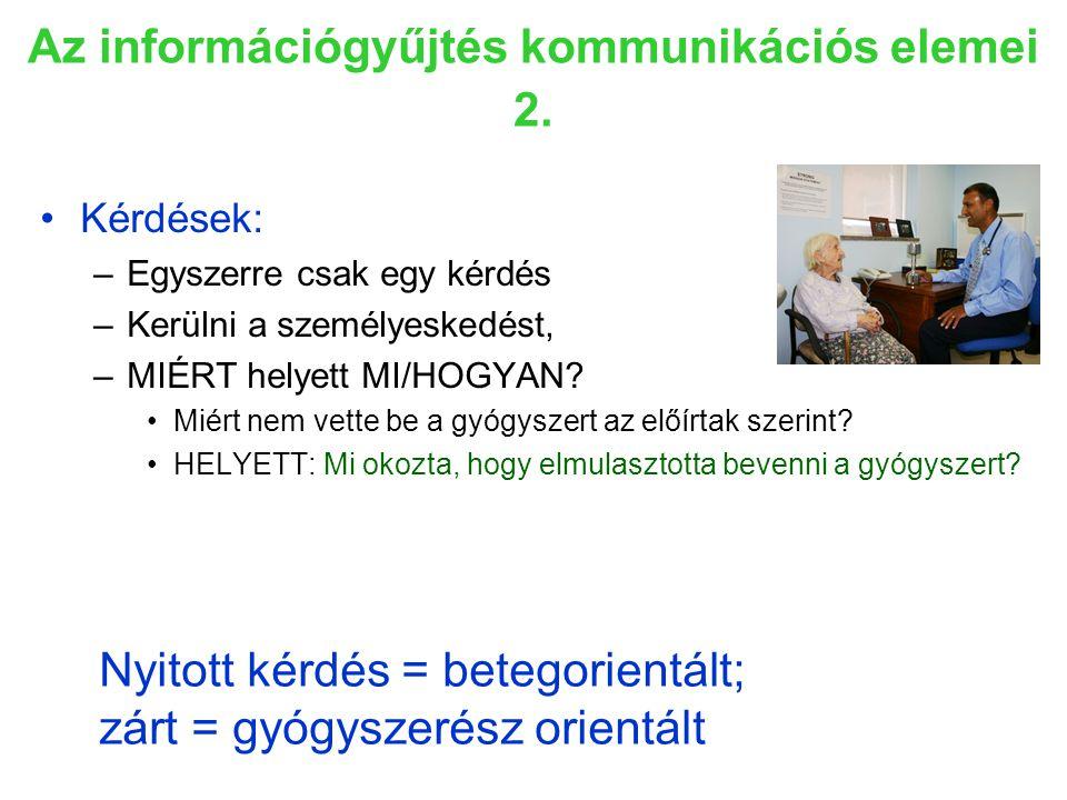 Az információgyűjtés kommunikációs elemei 2.