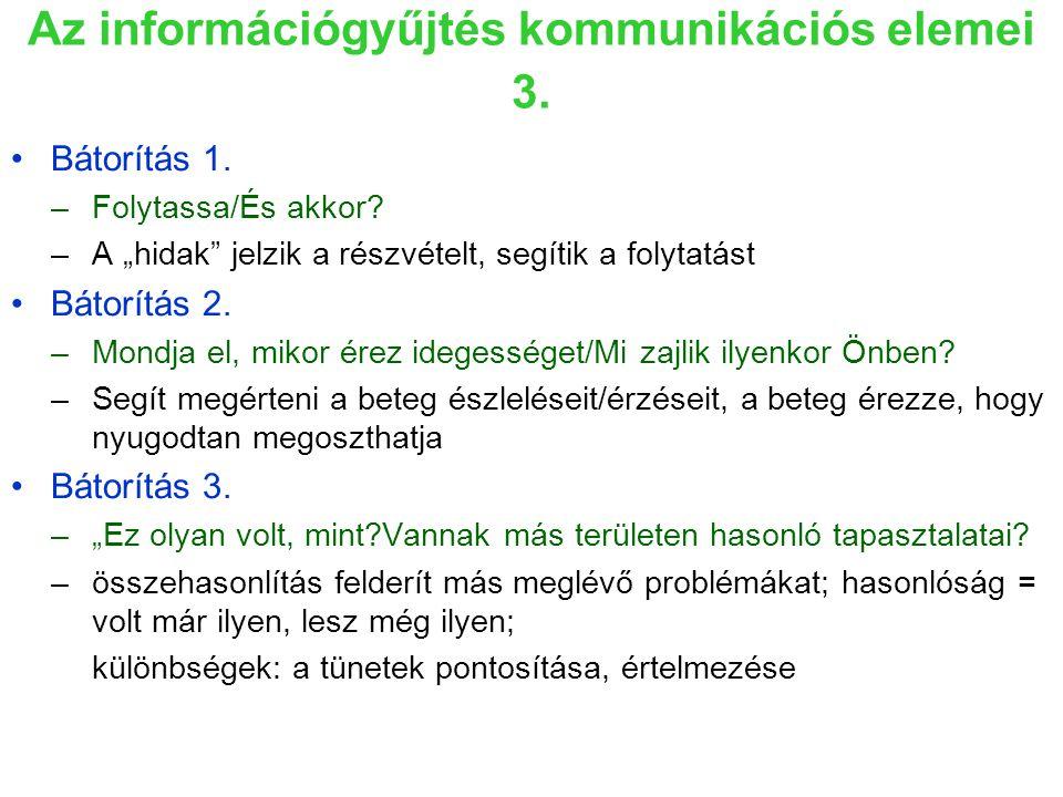 Az információgyűjtés kommunikációs elemei 3.