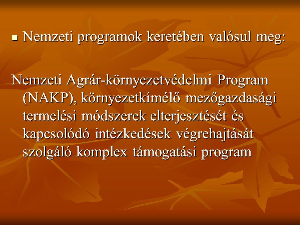 Nemzeti programok keretében valósul meg: