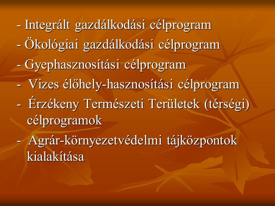 - Integrált gazdálkodási célprogram