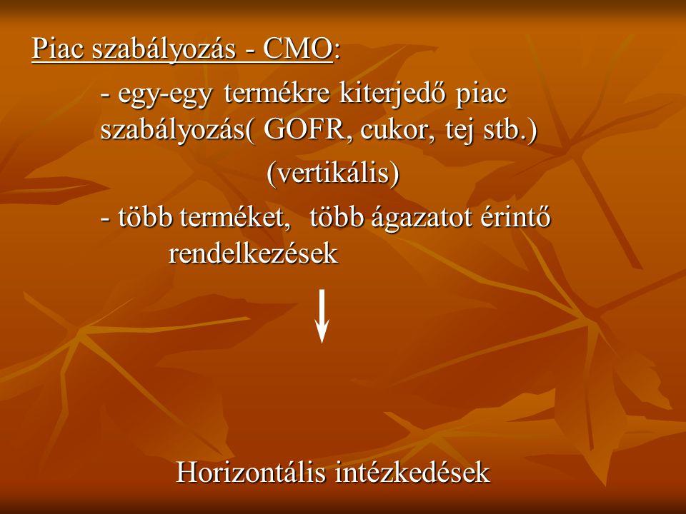 Horizontális intézkedések