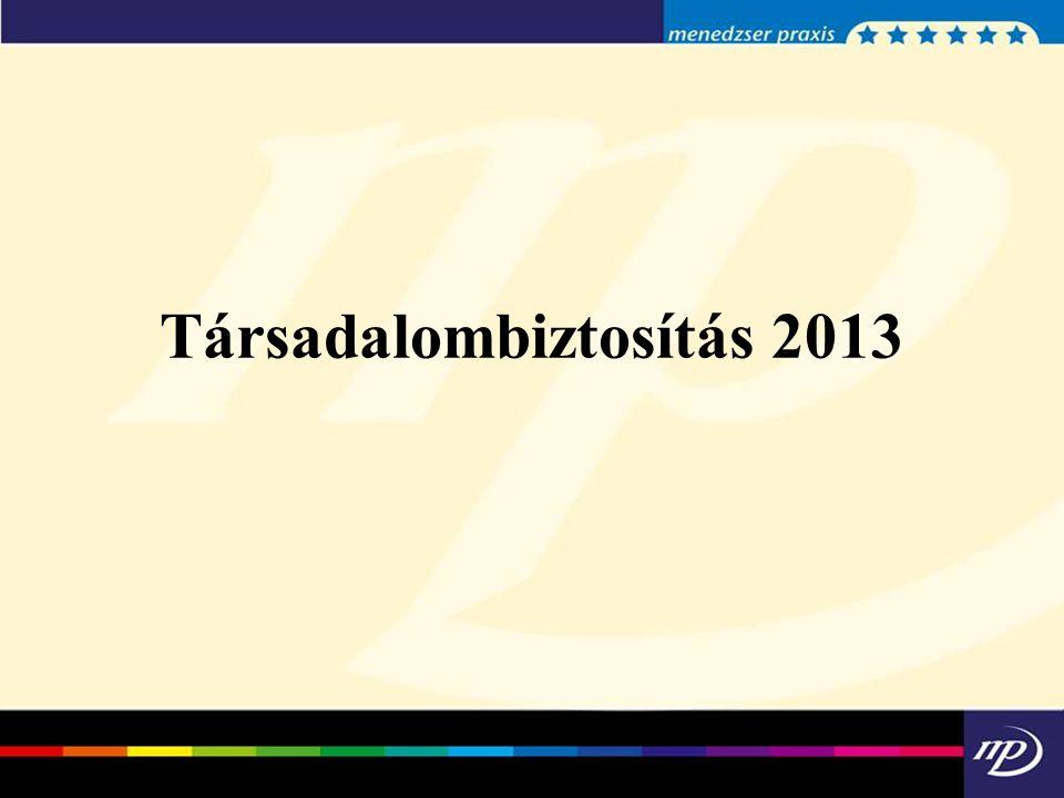 Társadalombiztosítás 2013