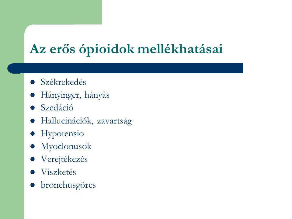Az erős ópioidok mellékhatásai