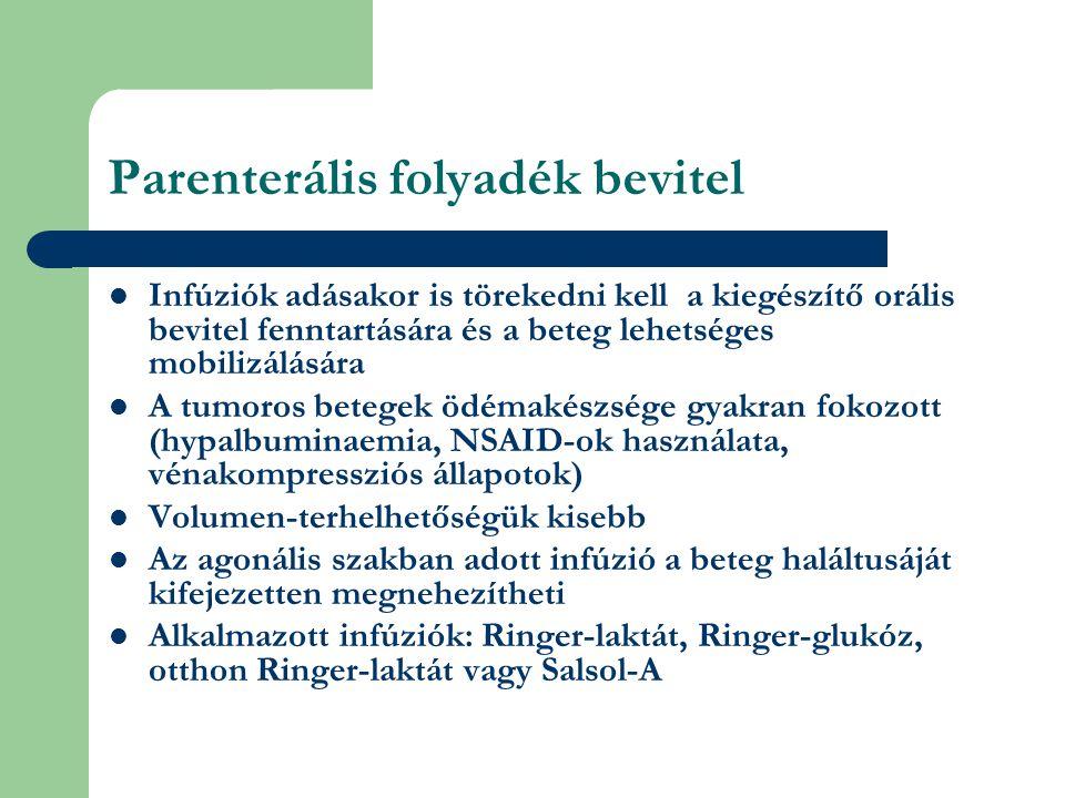 Parenterális folyadék bevitel