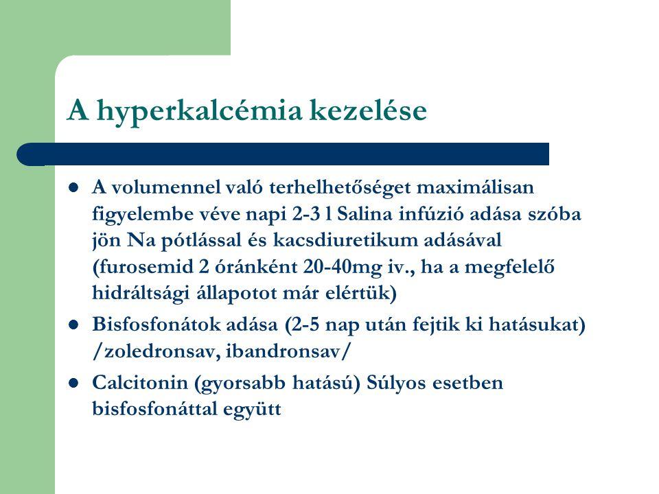 A hyperkalcémia kezelése