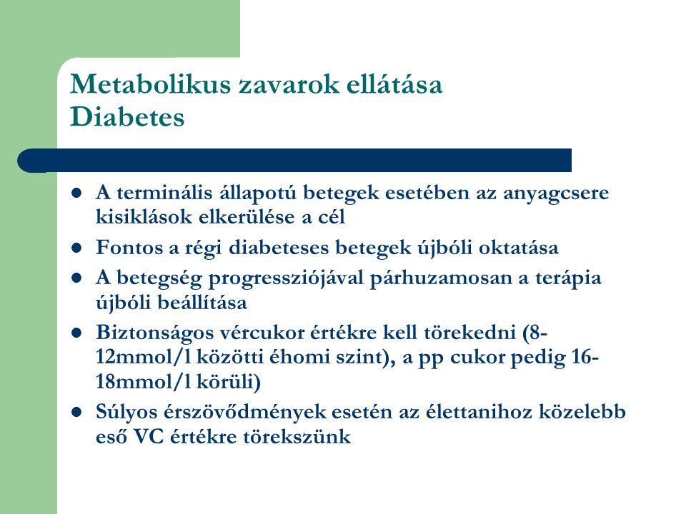 Metabolikus zavarok ellátása Diabetes