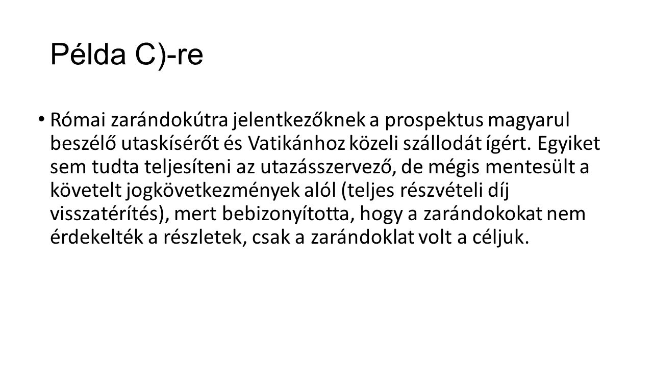 Példa C)-re