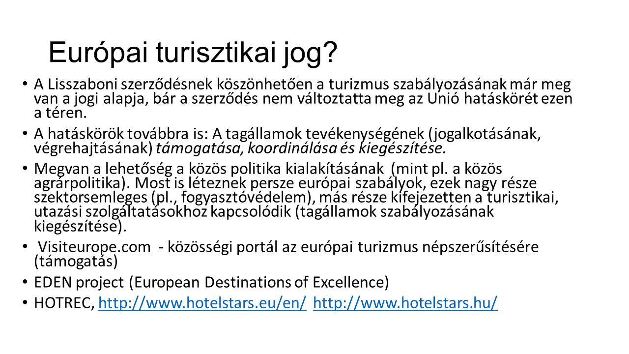 Európai turisztikai jog