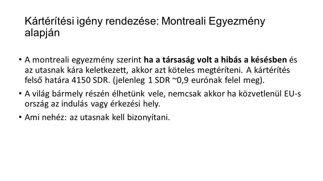 Kártérítési igény rendezése: Montreali Egyezmény alapján