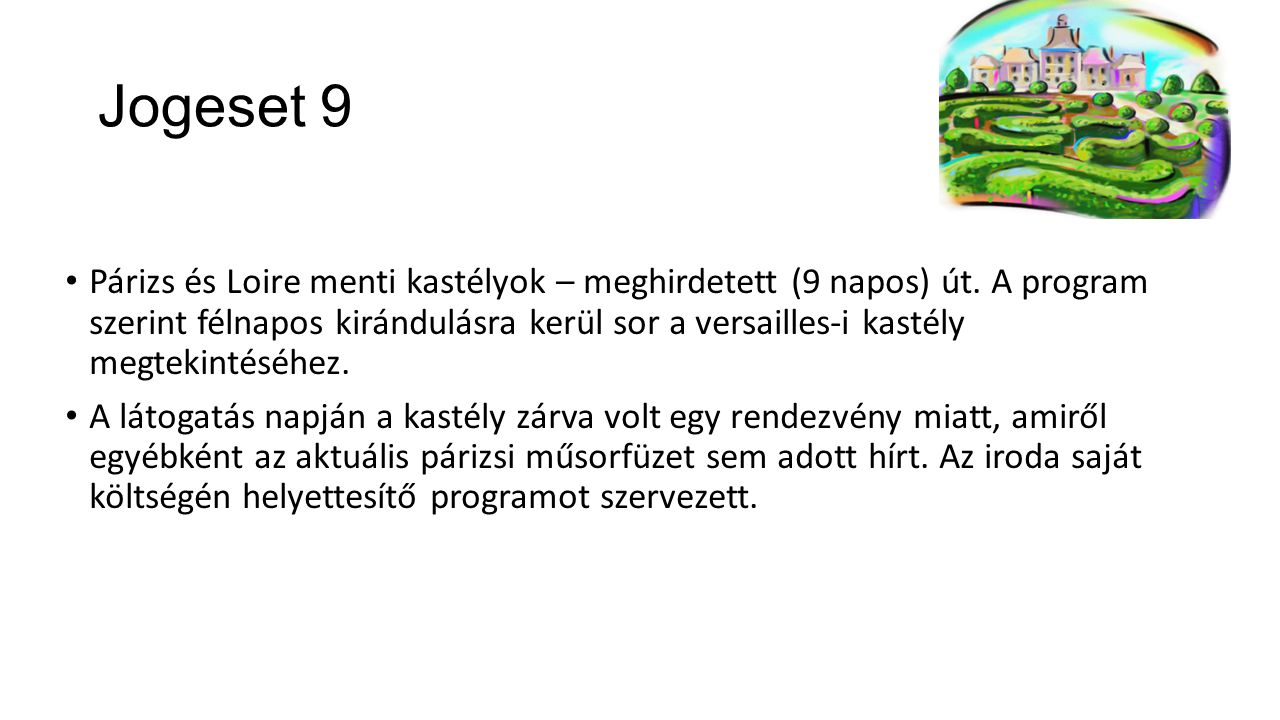 Jogeset 9