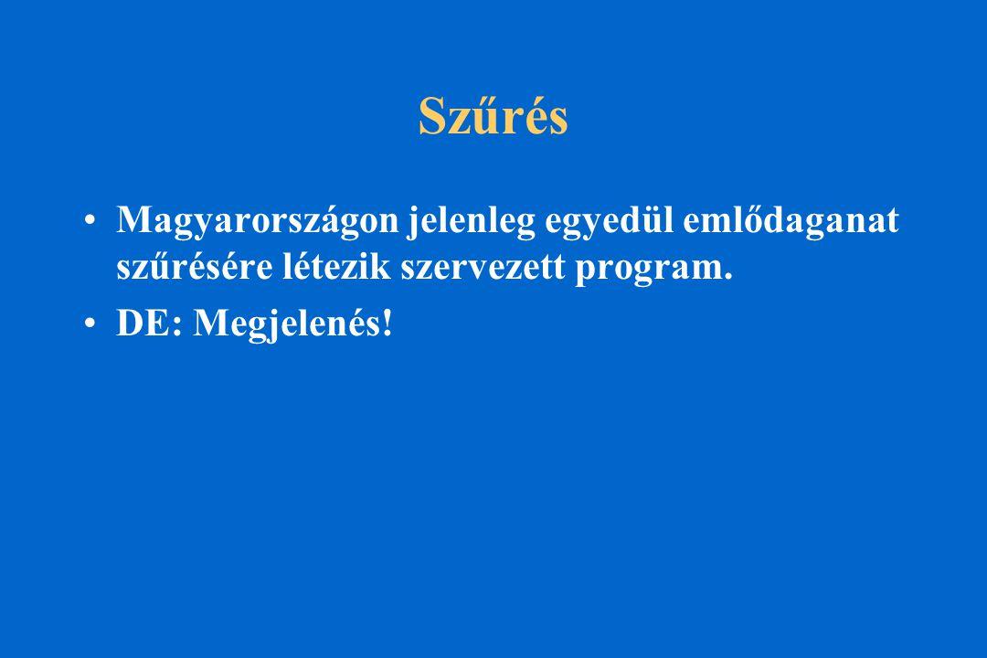 Szűrés Magyarországon jelenleg egyedül emlődaganat szűrésére létezik szervezett program.