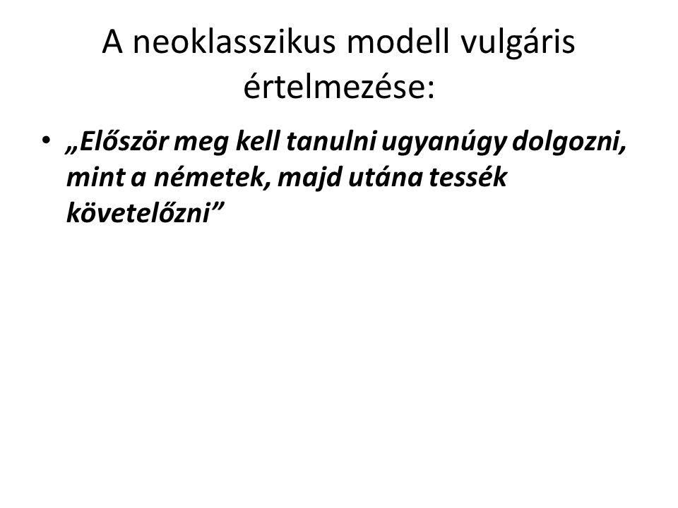 A neoklasszikus modell vulgáris értelmezése: