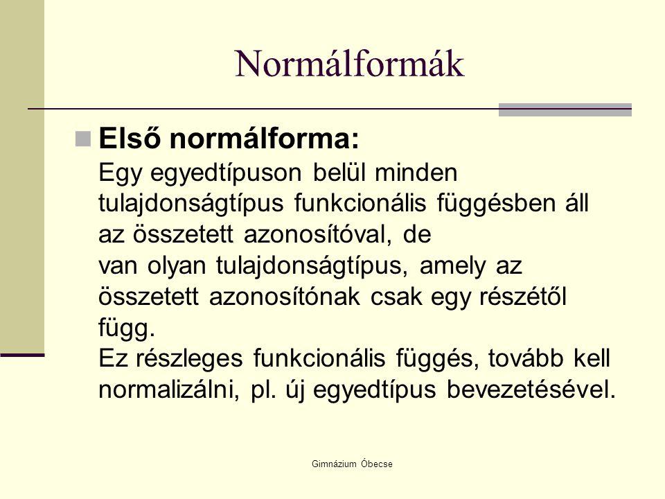 Normálformák