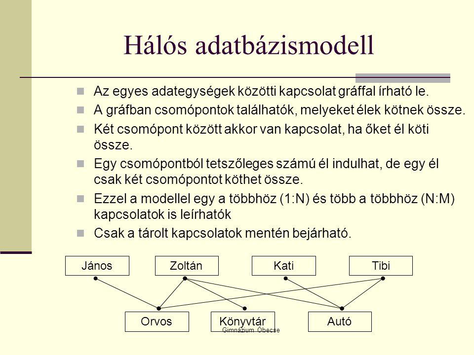 Hálós adatbázismodell