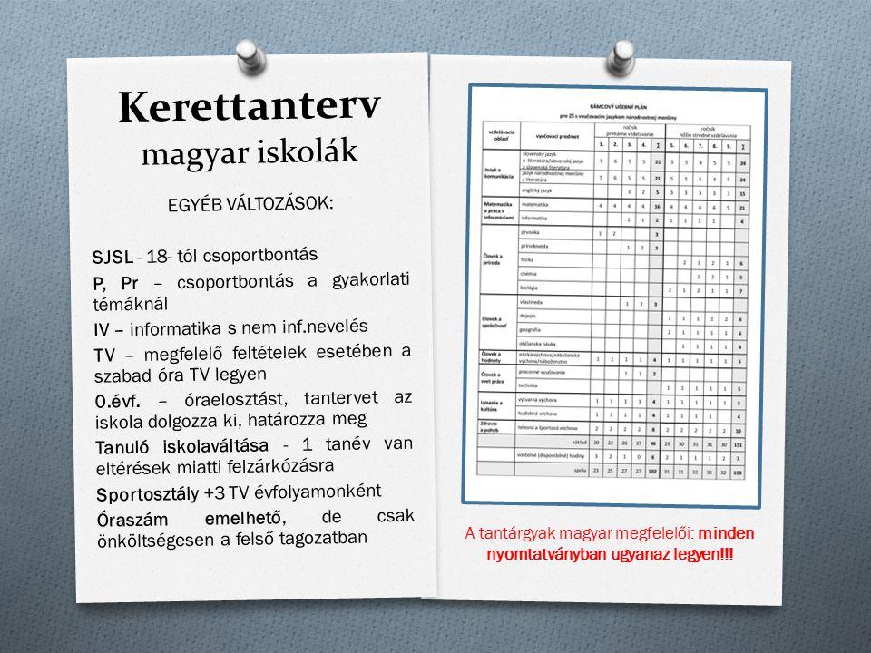 Kerettanterv magyar iskolák
